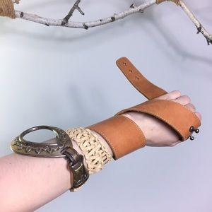 True vintage bohemian leather Californian belt
